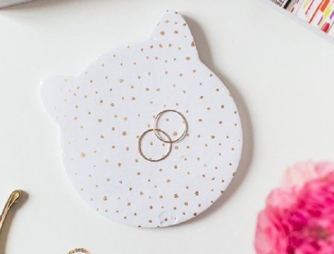 DIY cat trinket dish