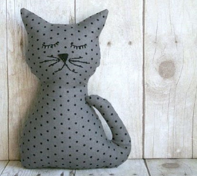 stuffed kitty pillow