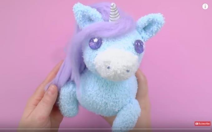 unicorn plushie iPhone charger