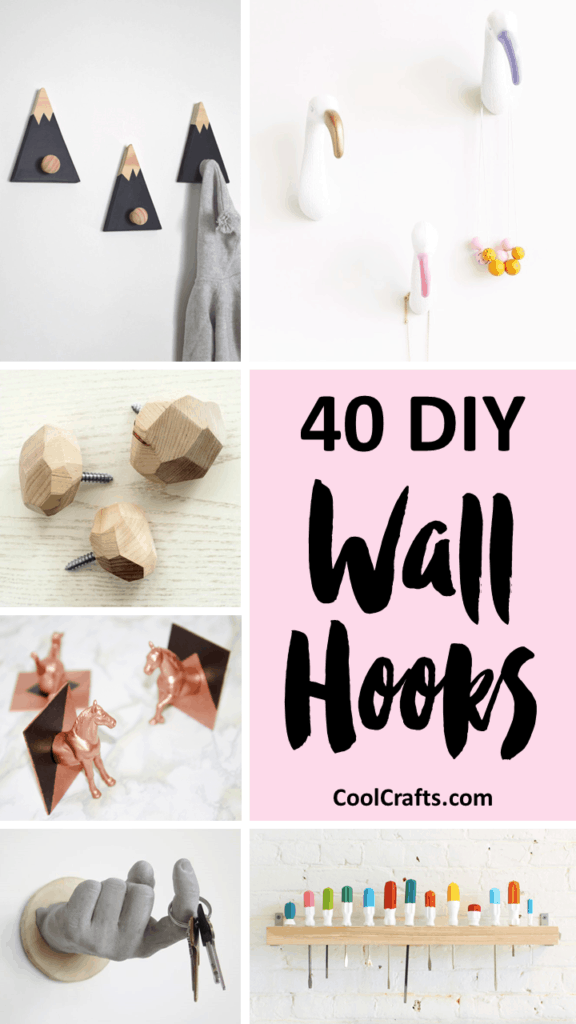 40 Decorative Wall Hooks That You Can Make Yourself