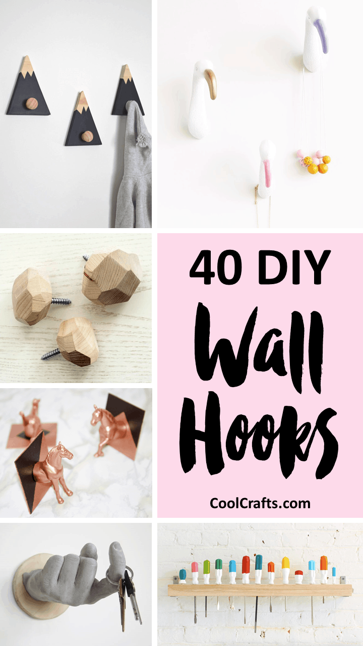 40 Decrorative Wall Hooks That You Can Make Yourself   CoolCrafts.com