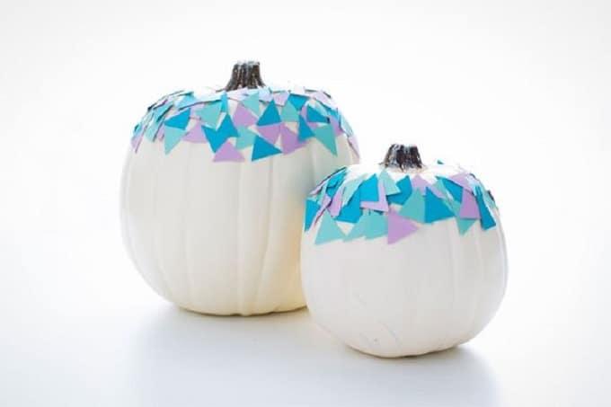 DIY painted pumpkin idea