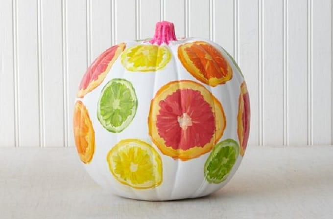pumpkin decorating summer citrus