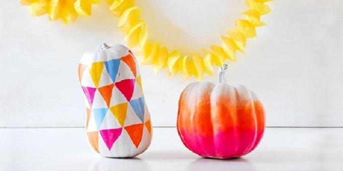 funky ombre pumpkins