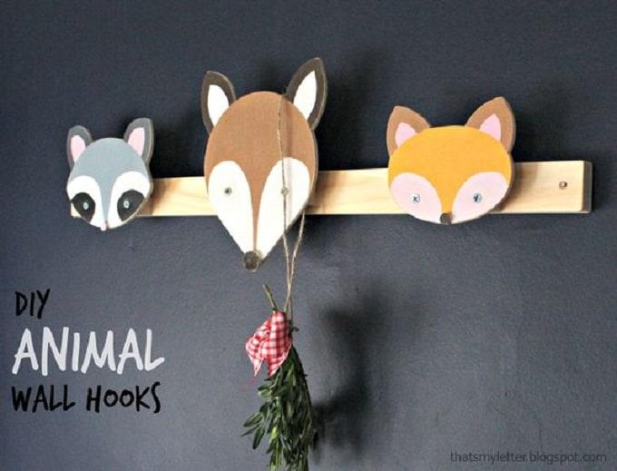 DIY Animal Wall Hooks