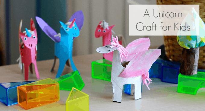 unicorns using just cardboard