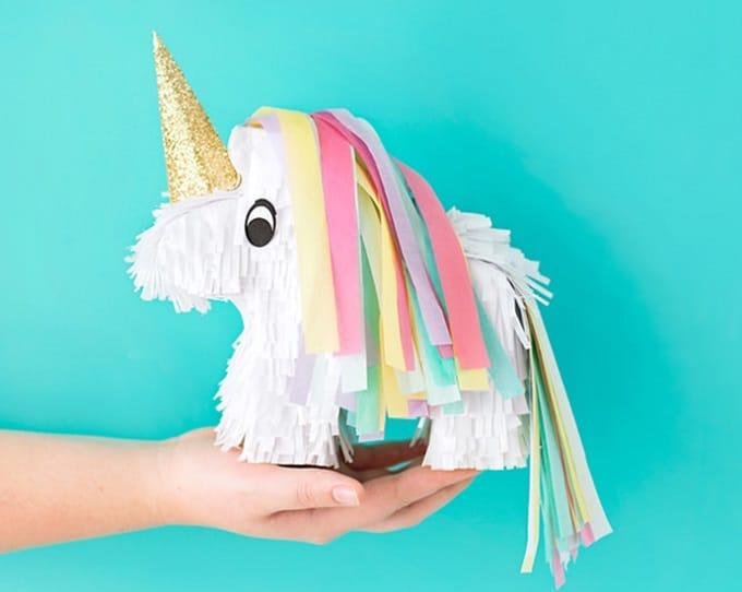 DIY mini unicorn piñata
