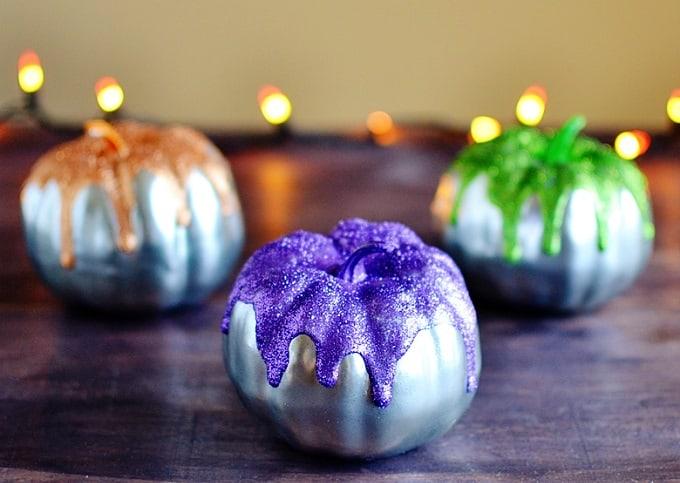 glitter frosted pumpkin