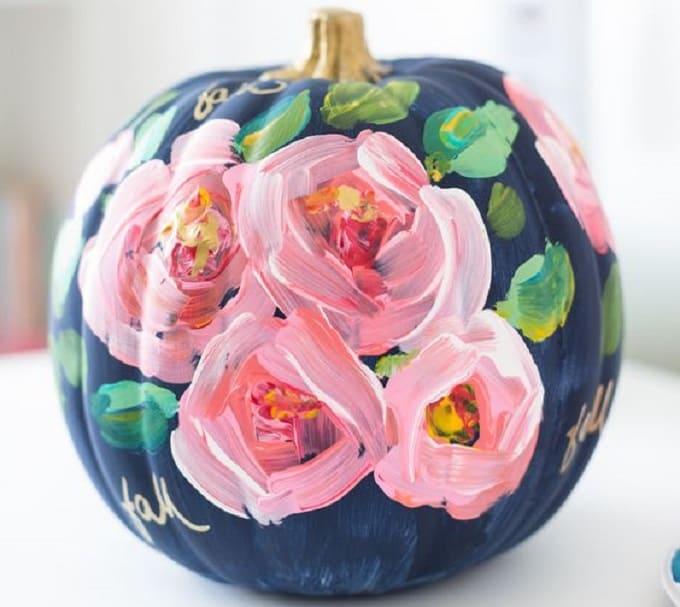 floral pumpkin masterpiece