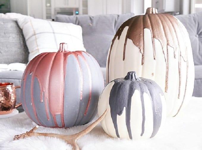 modern metallic pumpkins