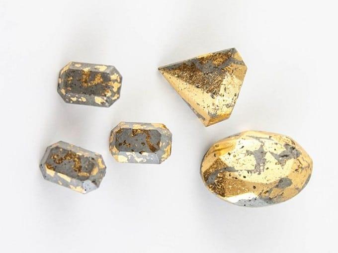 gold foil jewelry