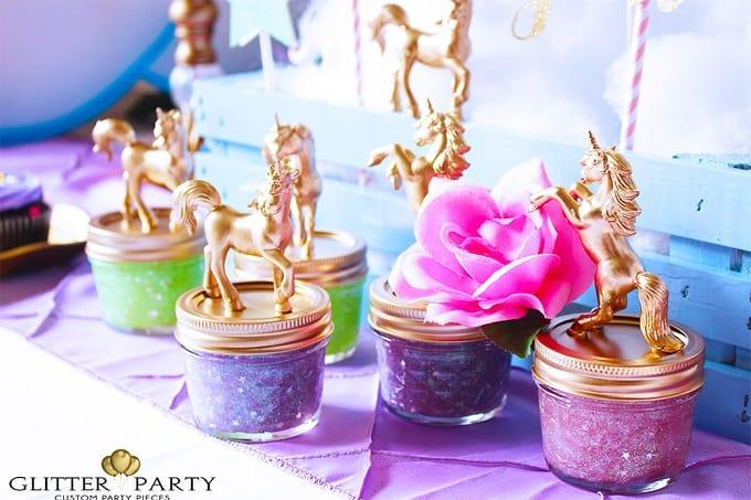 DIY unicorn party favors