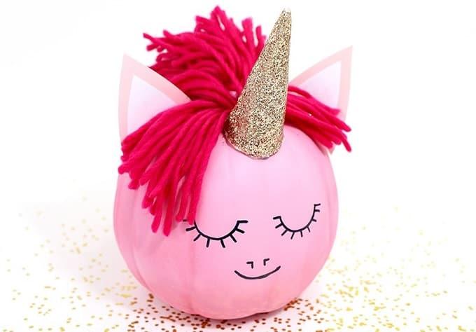 DIY unicorn pumpkin