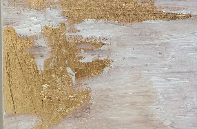 gold foil abstract artwork