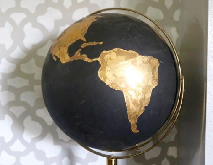 gold foil globe