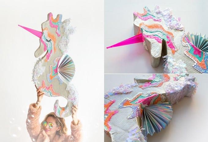 seahorse unicorn piñata