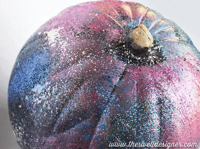 galaxy art pumpkin