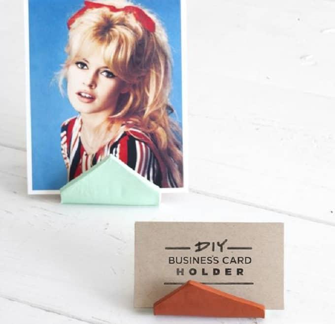 triangular business card holders
