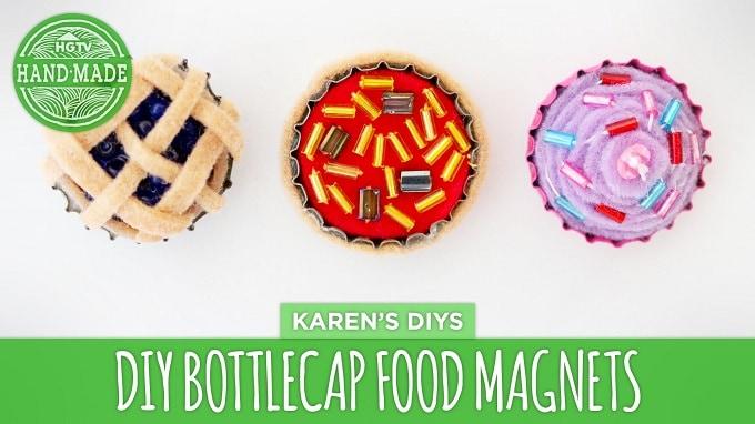 bottlecap food magnets