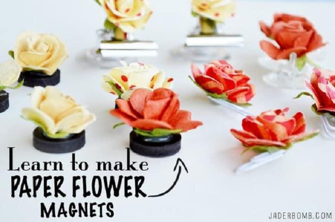 paper flower magnets
