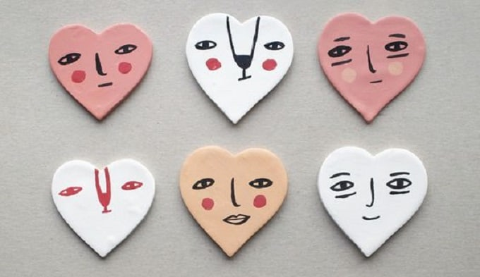 valentine heart magnets