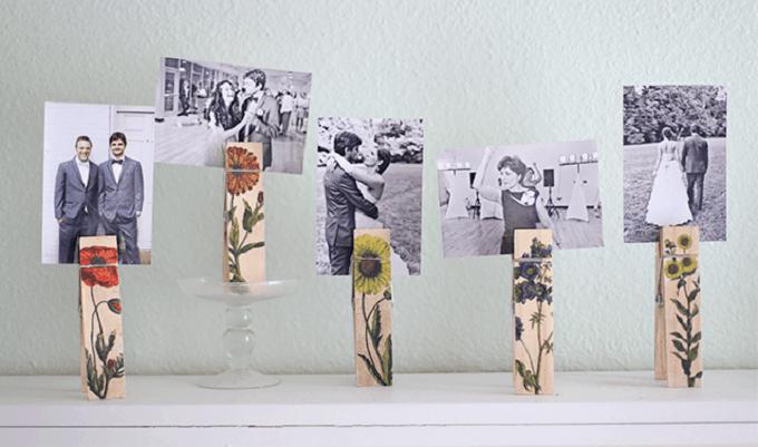botanical photo holder clips