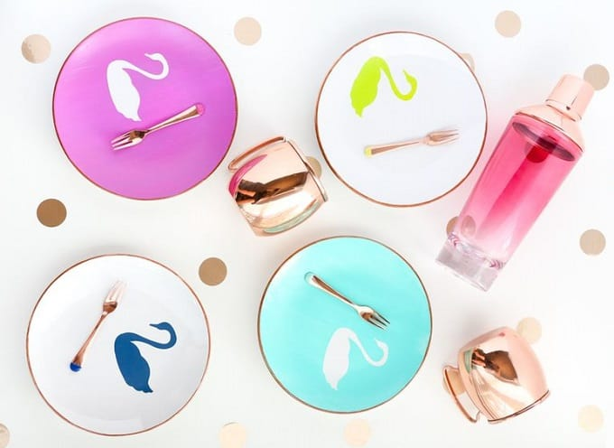 swan appetizer plates