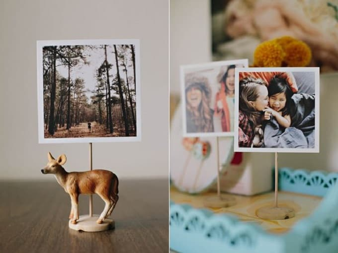 DIY photo holder stands
