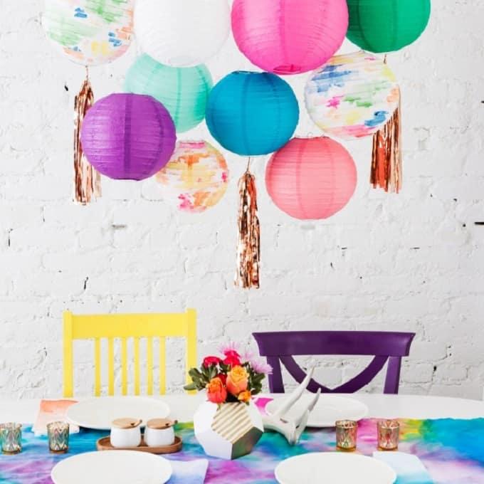 watercolor parry décor