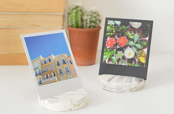 faux marble photo holders