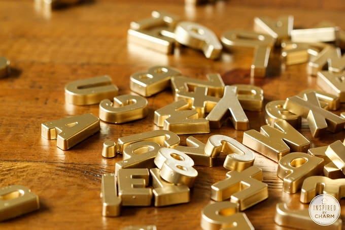 plastic letter magnets