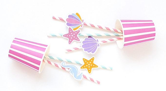 DIY sea inspired straw toppers
