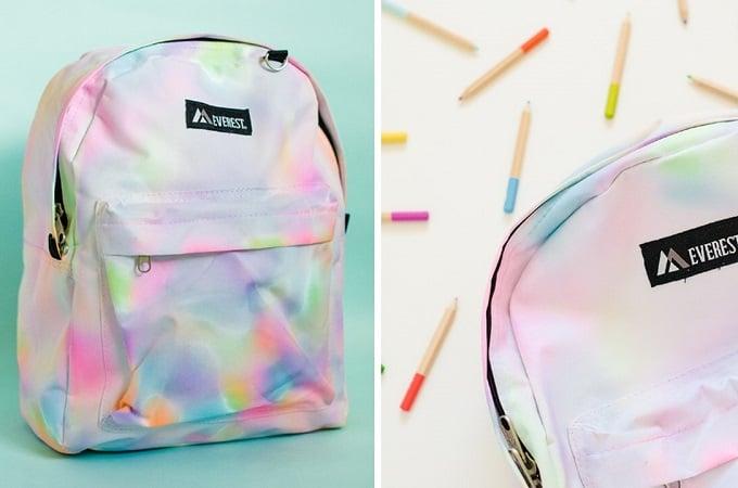 DIY watercolor backpack