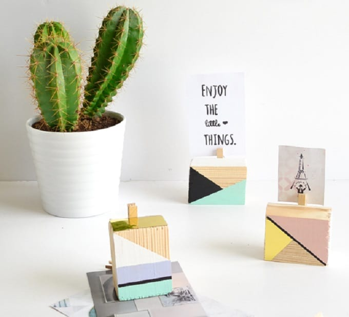 geometric picture holders