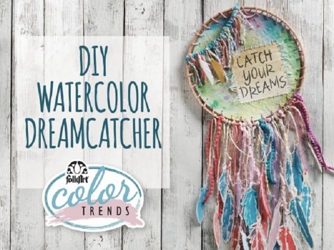 watercolor dream catcher