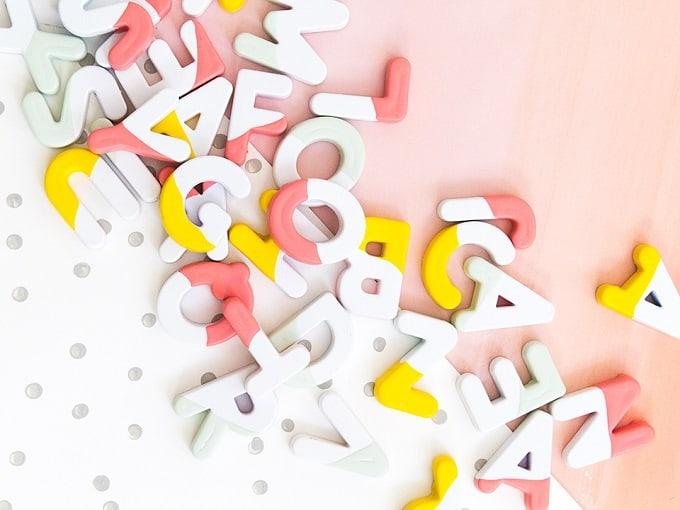 DIY letter magnet