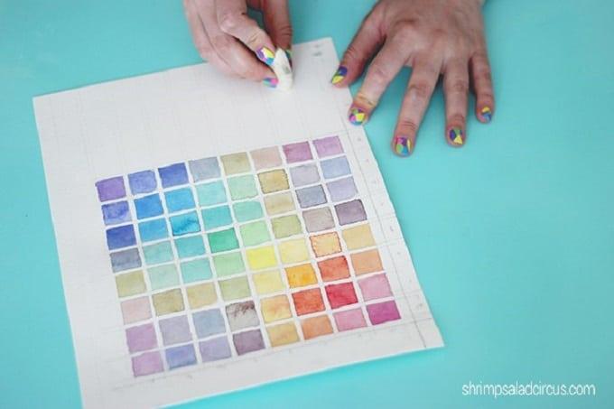 watercolor paint chart