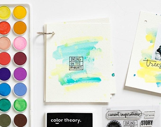 watercolor mini album
