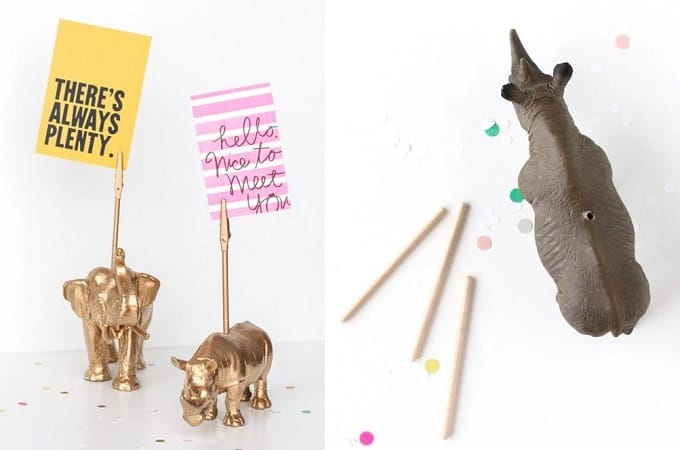 gold animal figurine holder