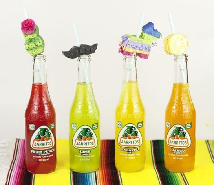 mini piñata straw toppers