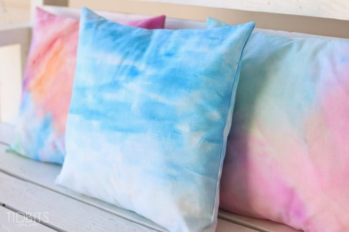 watercolor effect to fabric