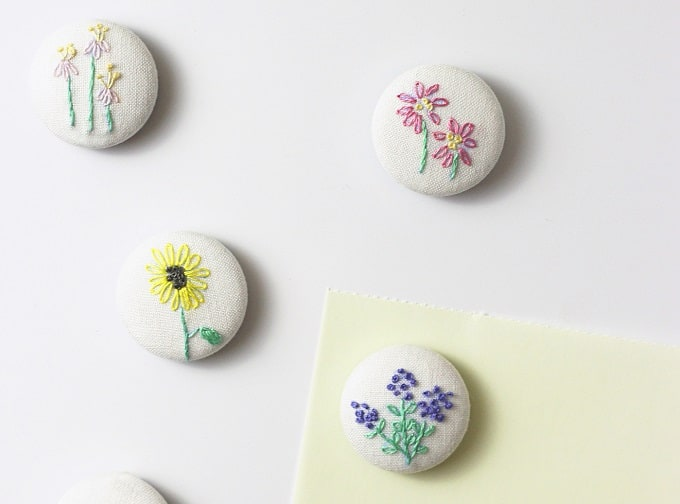 hand embroidery magnets