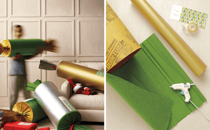 oversize paper Christmas crackers