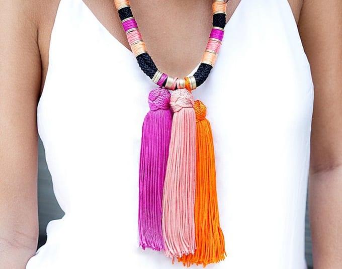 summer tassel necklace