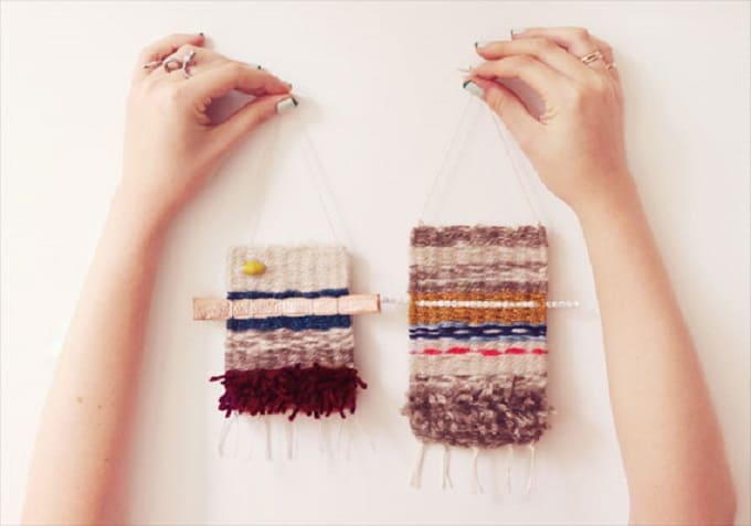 mini woven hangings