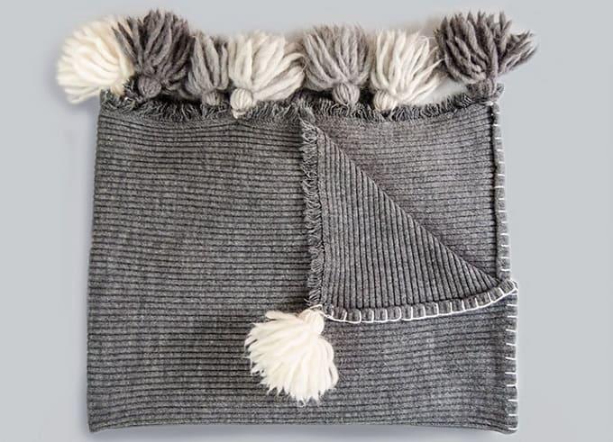 tassel blanket