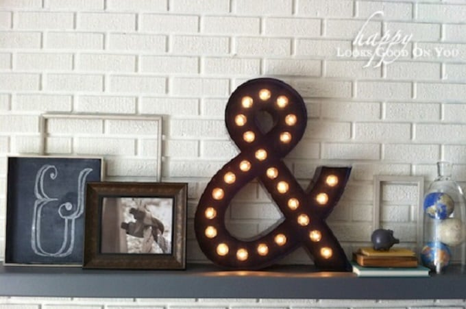 ampersand marquee lights