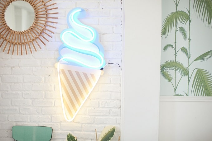 neon ice cream lights
