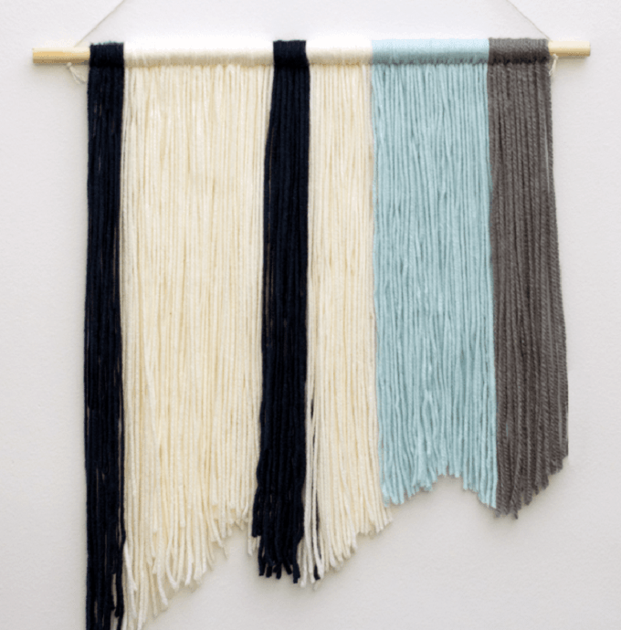 yarn wall hanging tutorial