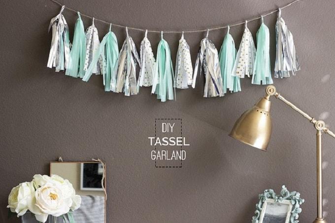 tissue paper tassel garlands